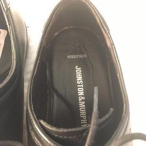 Johnston & Murphy Shoes - JOHNSTON MURPHY LARSEY Mens Size 9 M Black Leather